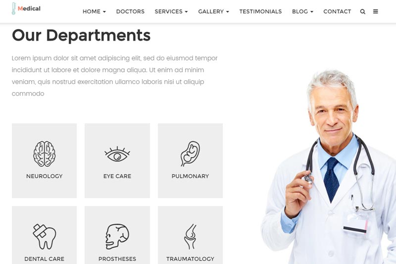doctor web design sample