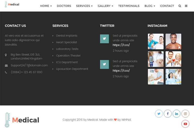 physician web design sample