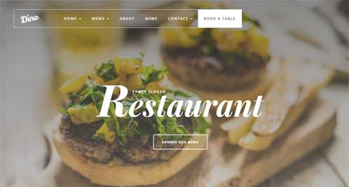 food website sample