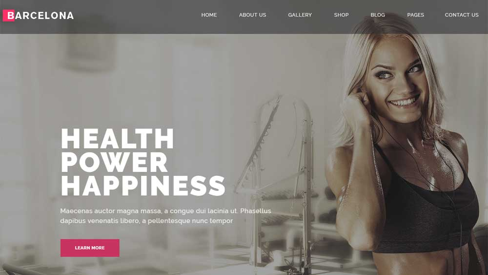 fitness web design
